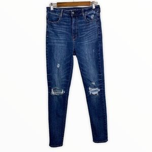 American Eagle Highest Rise Jeggings Distressed 8